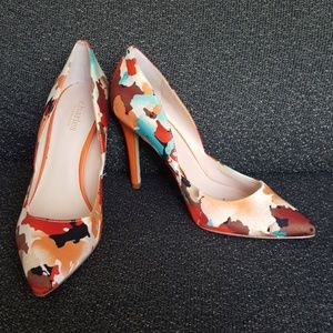 Charles David Red/Orange/Cream/Aqua Stelleto Heels